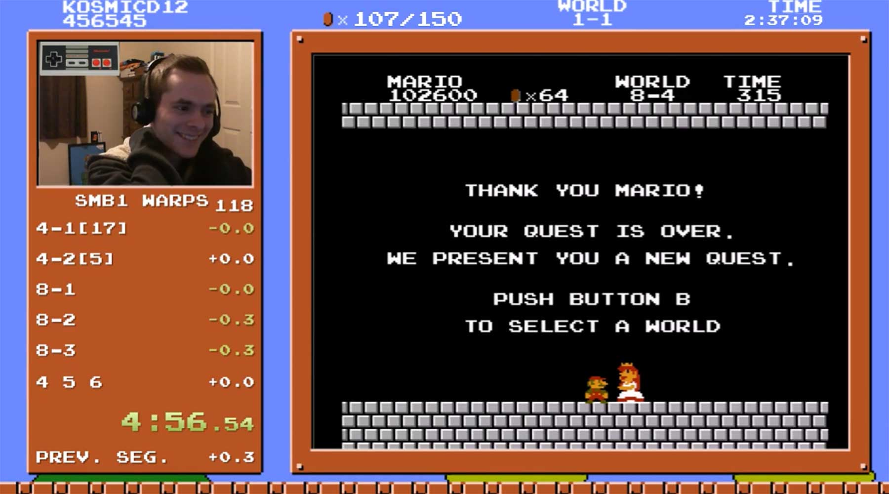 Neuer Rekord im Super Mario Bros.-Schnellspielen super-mario-bros-speedrun-rekord