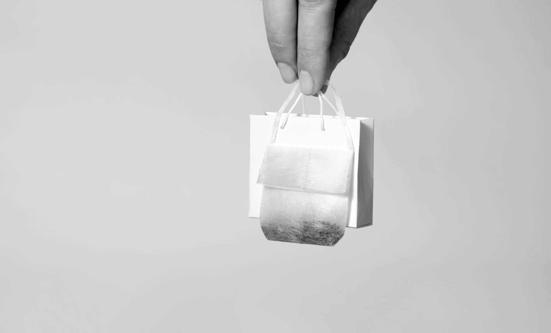 Designertaschen-Teebeutel
