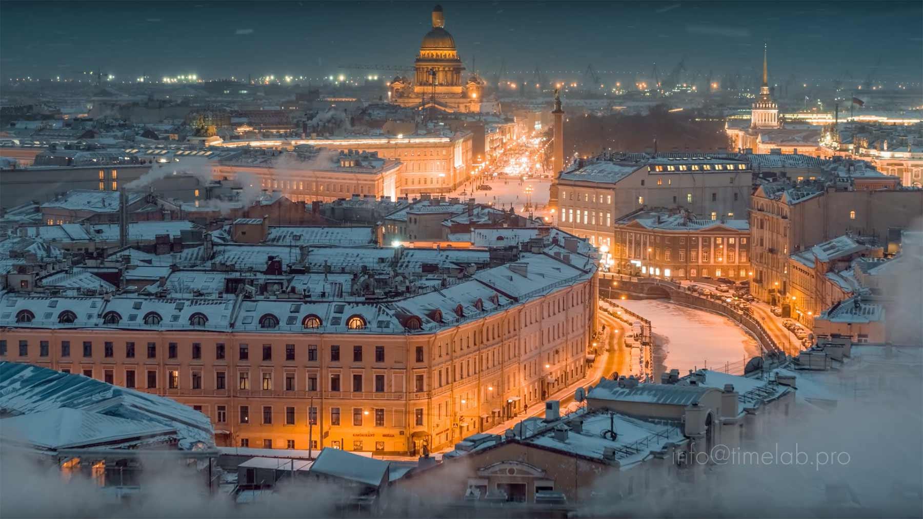Wunderschönes Timelapse: St. Petersburg & Moskau