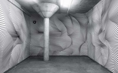 Klebestreifenkunst von Darel Carey