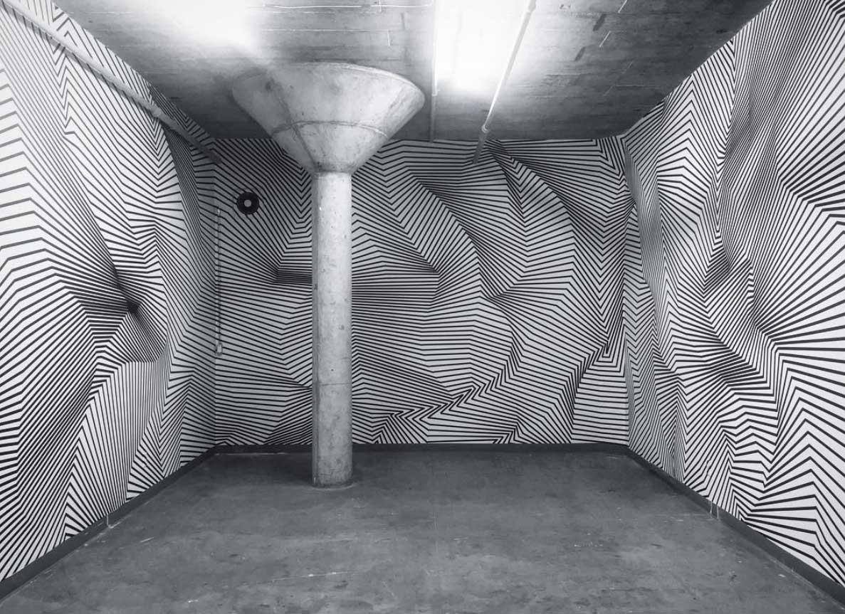 Klebestreifenkunst von Darel Carey Darel-Carey-Tape-art_01