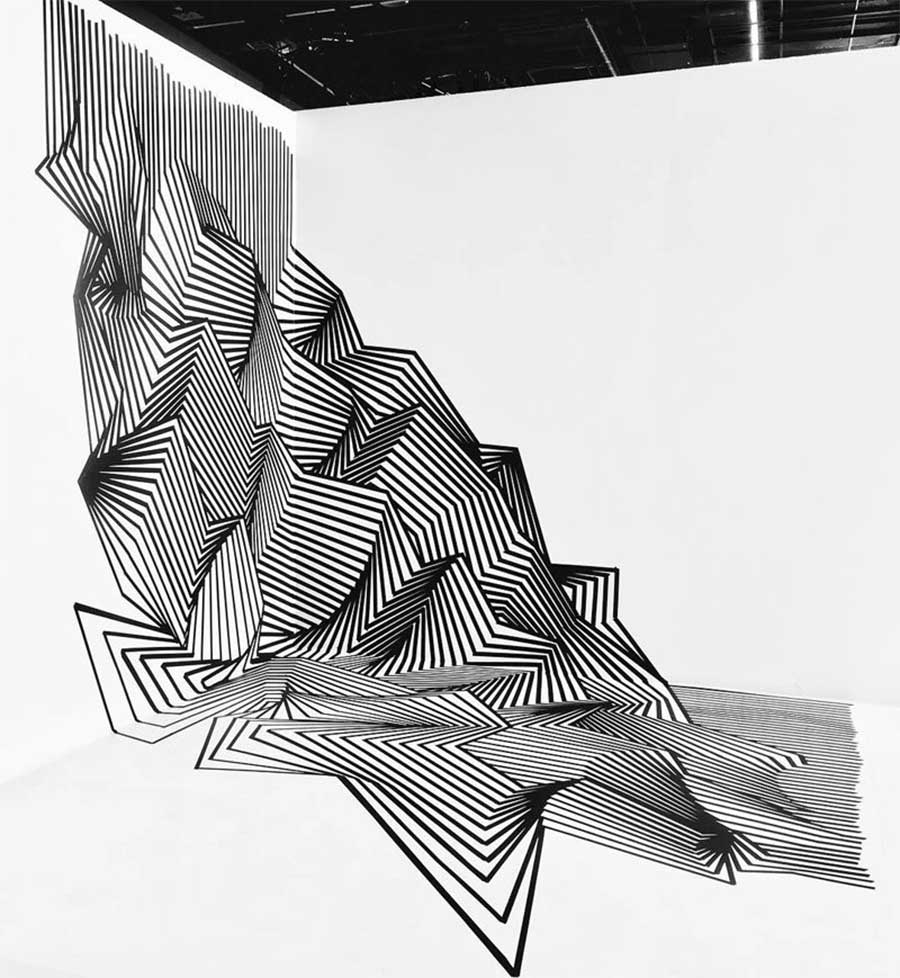 Klebestreifenkunst von Darel Carey Darel-Carey-Tape-art_05
