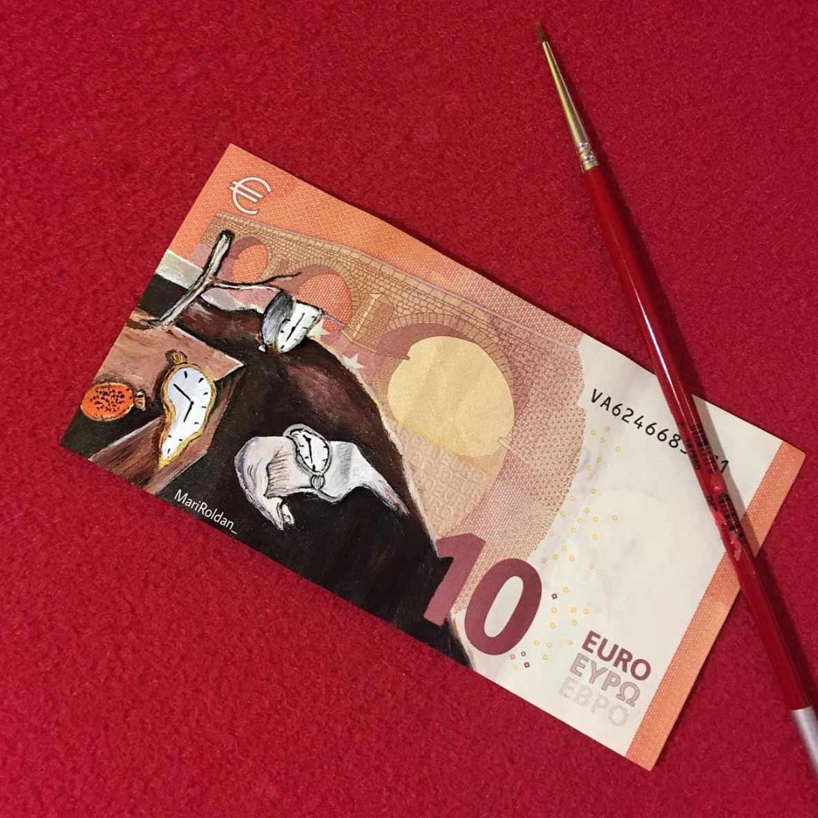 Gemälde auf Geldscheinen Mari-Roldan_02