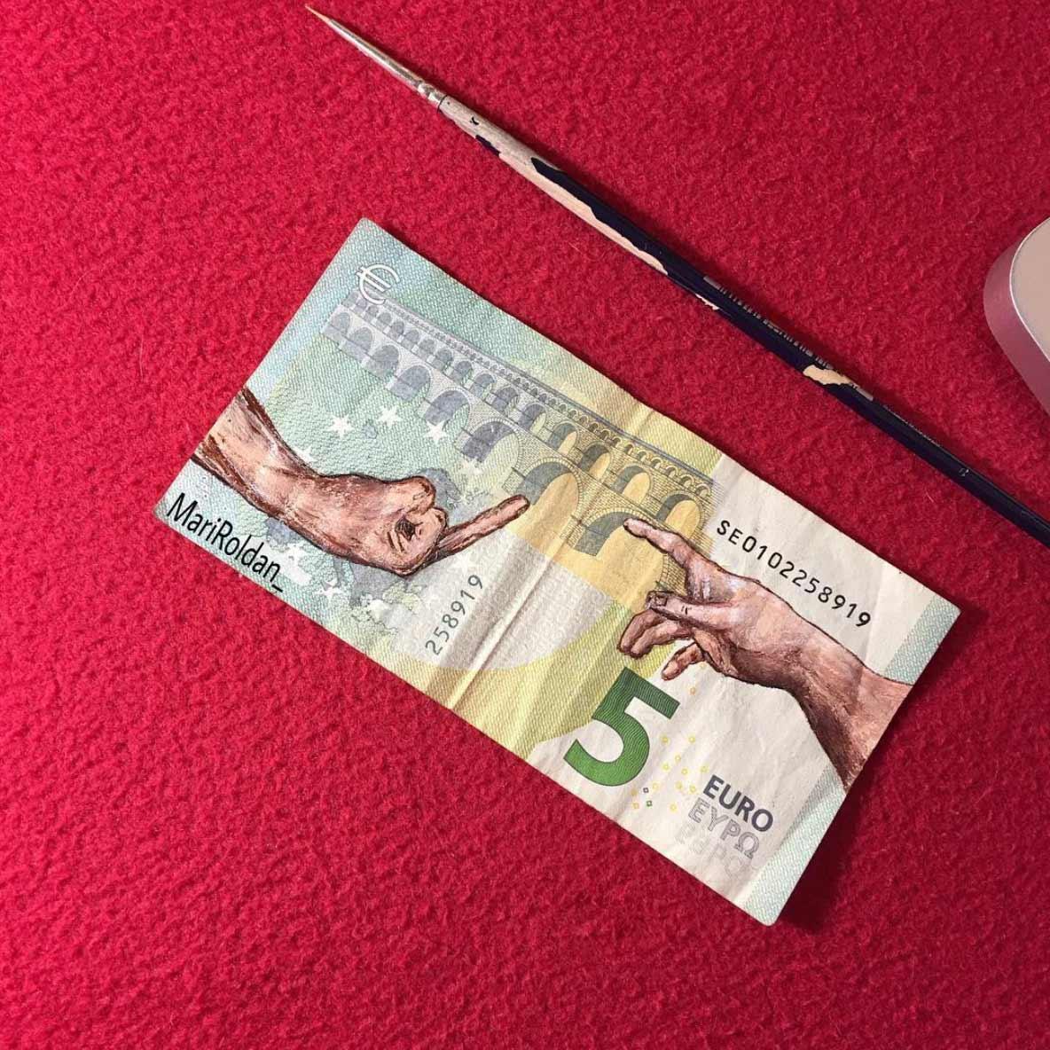 Gemälde auf Geldscheinen Mari-Roldan_03