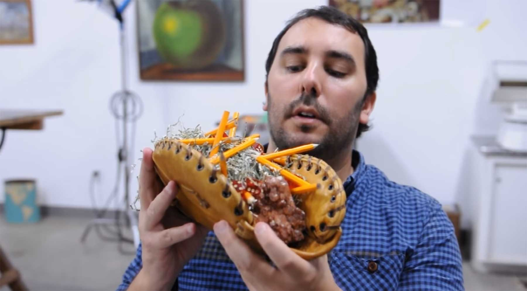 PES macht einen Taco aus Flohmarkt-Funden