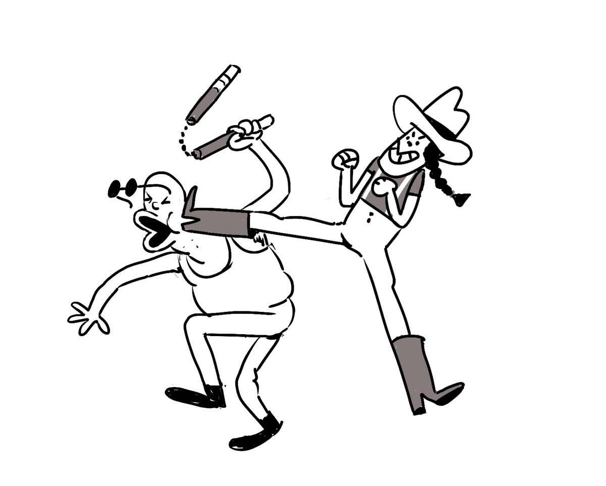 Jeden Tag wird diese Zeichnung einer Schlägerei um eine Figur erweitert Tom-Gran_schlaegerei-jeden-tag-eine-neue-figur_02