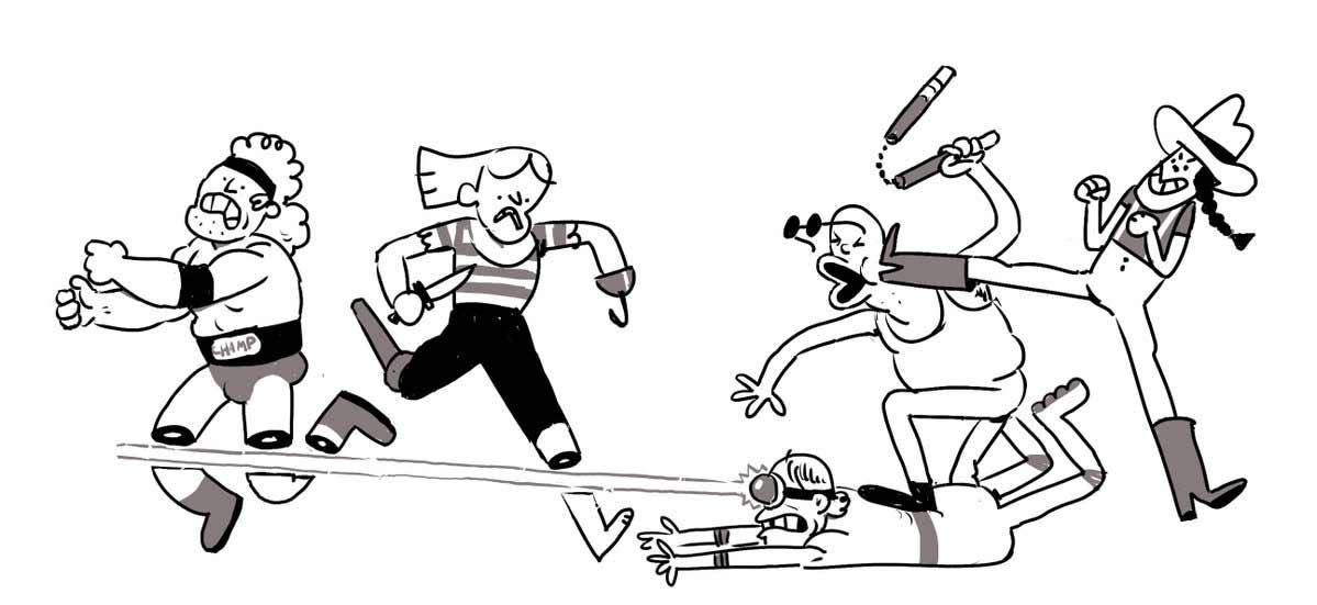 Jeden Tag wird diese Zeichnung einer Schlägerei um eine Figur erweitert Tom-Gran_schlaegerei-jeden-tag-eine-neue-figur_04