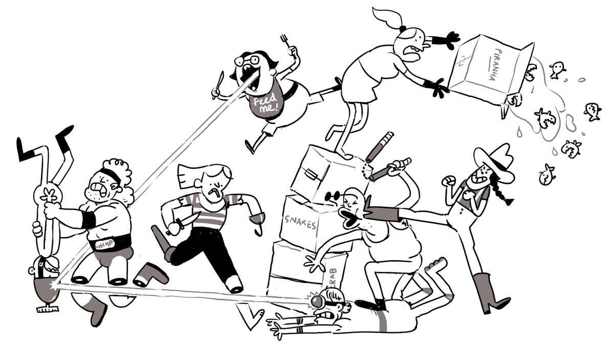 Jeden Tag wird diese Zeichnung einer Schlägerei um eine Figur erweitert Tom-Gran_schlaegerei-jeden-tag-eine-neue-figur_05