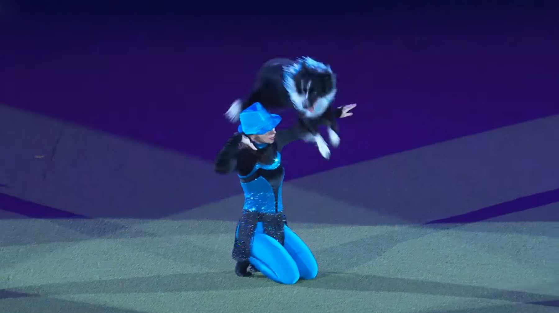 Beeindruckende Tanz-Choreografie mit Hund