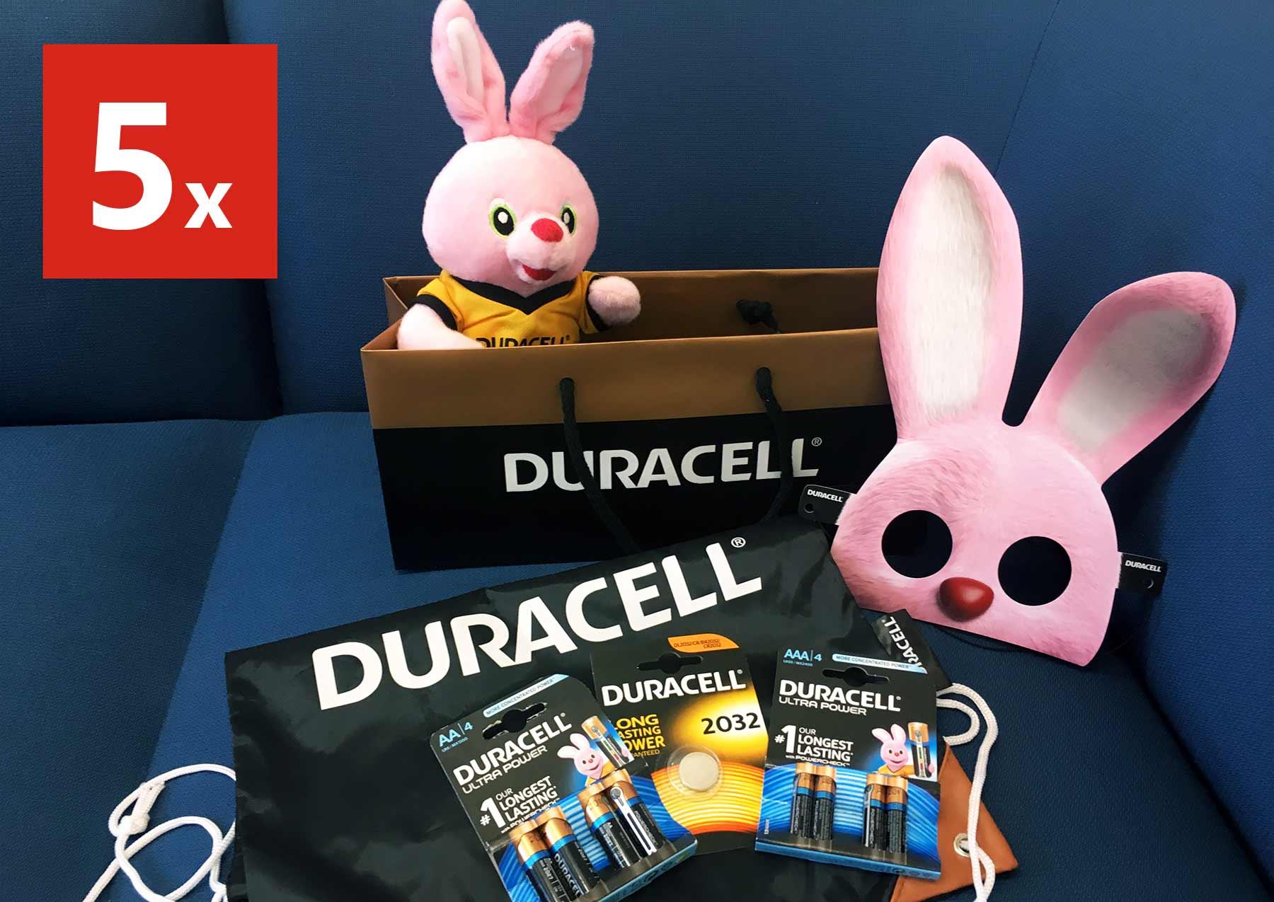 Finde den Duracell Hasen bei ROSSMANN und gewinne 2.222 Euro duracell-hase-gewinnpaket