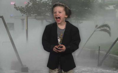 Videoproduzenten-Papa verhilft Sohn zu epischem Kindergarten-Wetterbericht