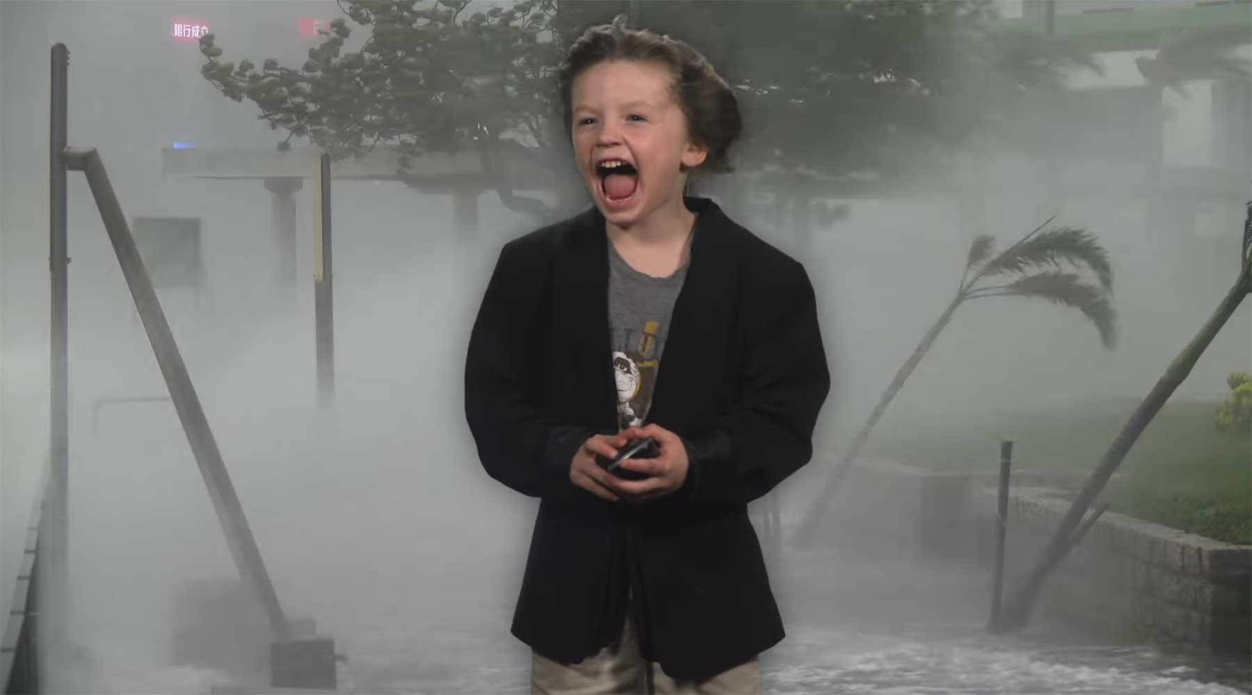 Videoproduzenten-Papa verhilft Sohn zu epischem Kindergarten-Wetterbericht kindergarten-wetterbericht