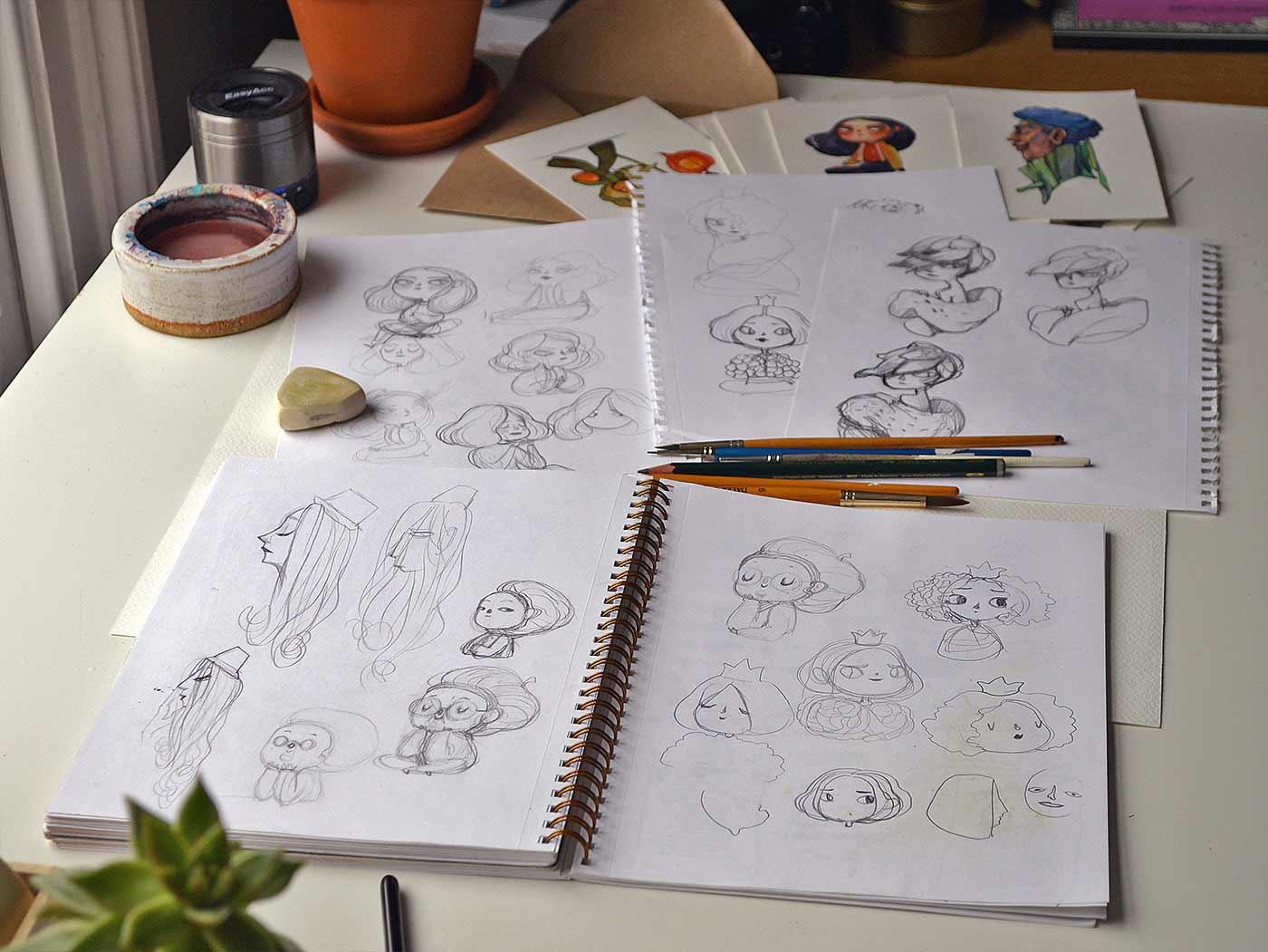 Früchte als Personen gezeichnet obst-als-personen-Marija-Tiurina_09
