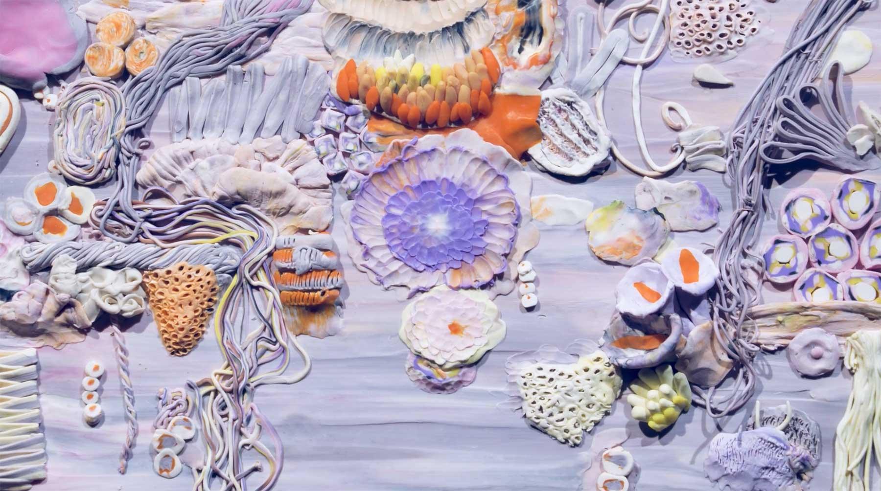 Stopmotion-Ozean aus Knete