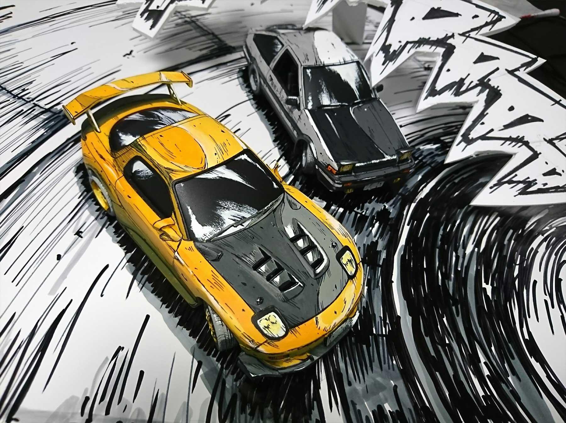 Comic-Zeichnung oder Foto? shinga-autos-illustration-oder-foto_02