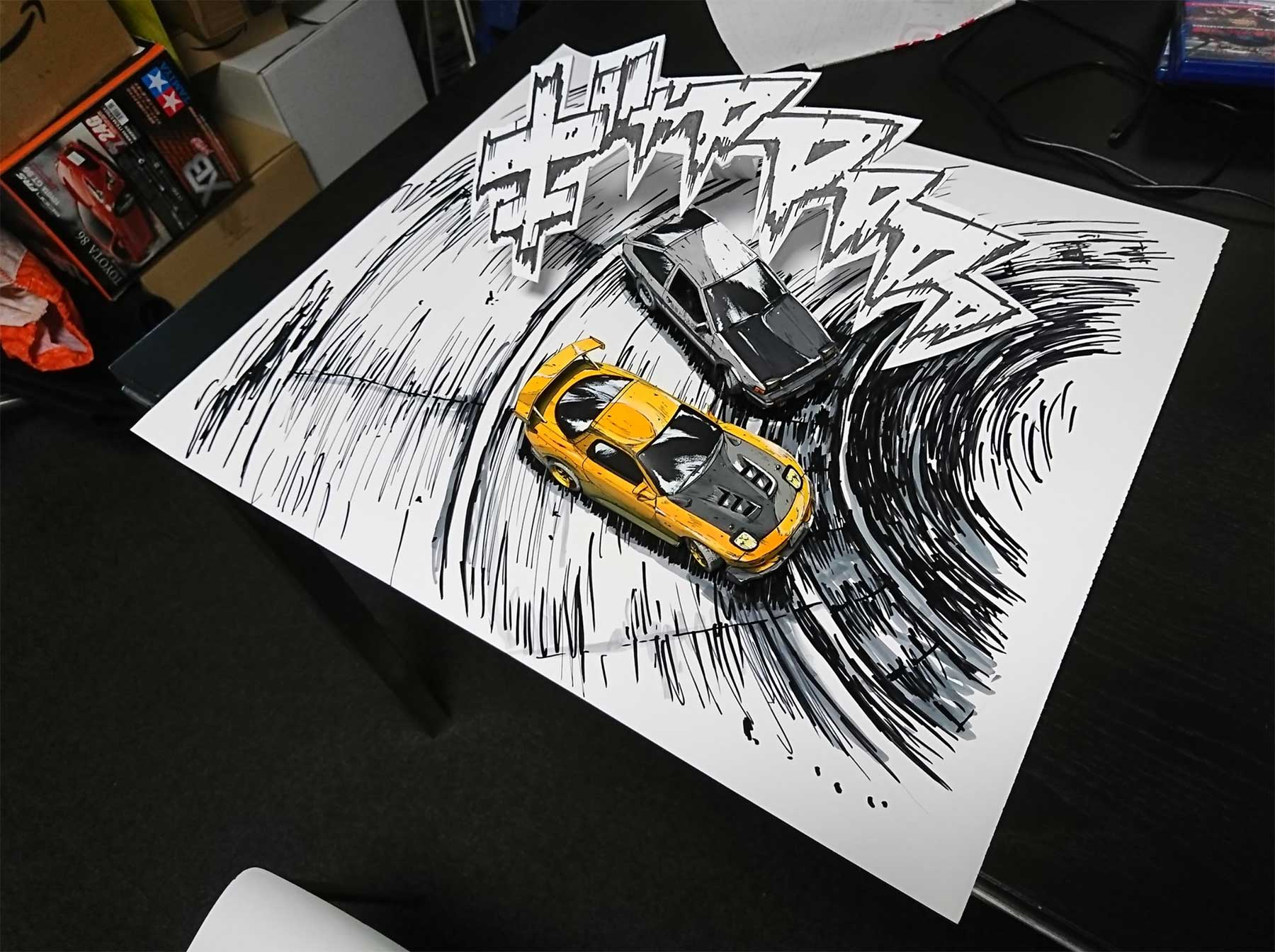 Comic-Zeichnung oder Foto? shinga-autos-illustration-oder-foto_03