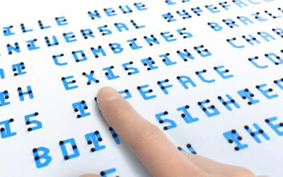 Für alle lesbare Blindenschrift