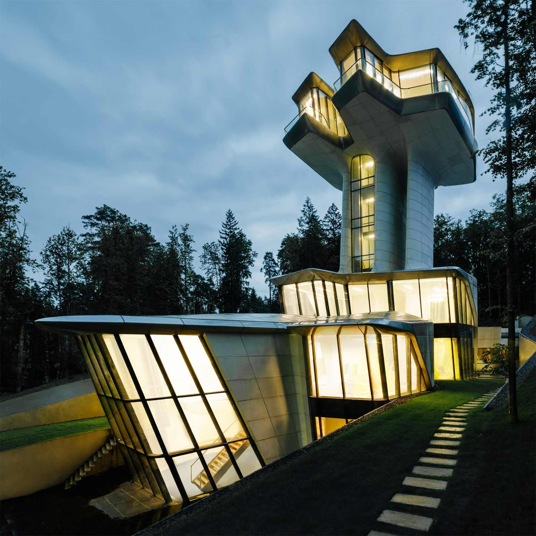Ein Haus wie ein Raumschiff Capital-Hill-Residence-Zaha-Hadid_02