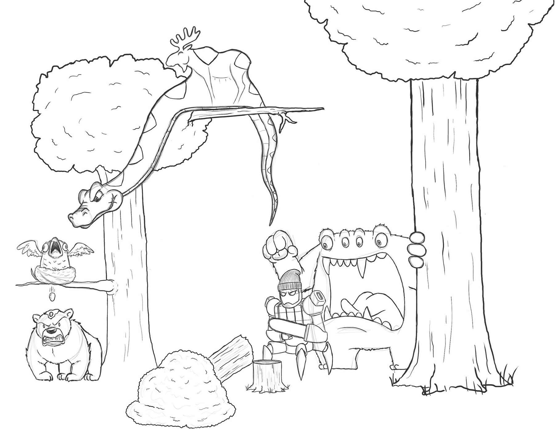 Eric Keledjian hat dieser Zeichnung jeden Tag eine Figur hinzugefügt Eric-Keledjian_19-tage-zeichnung_06