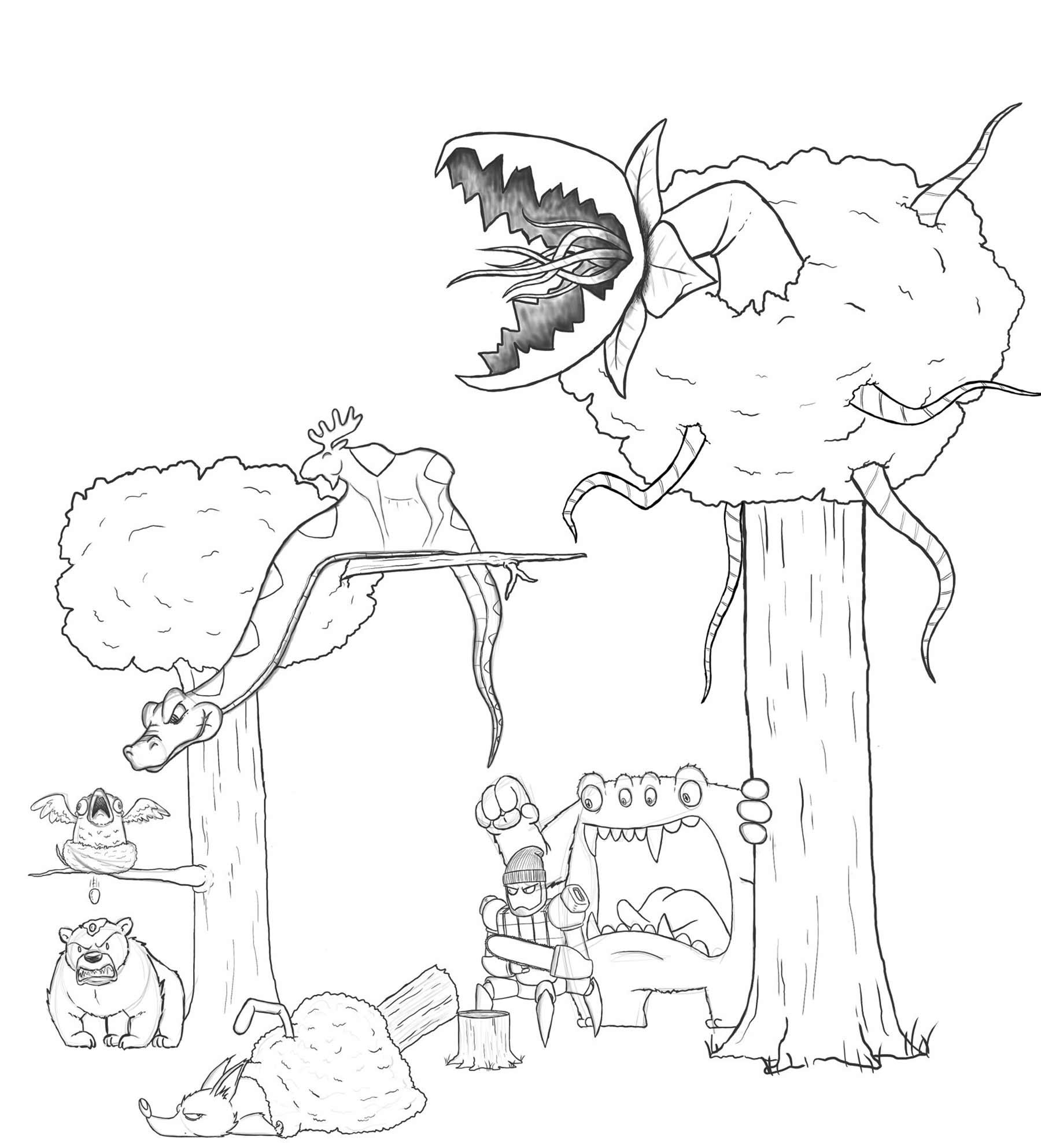 Eric Keledjian hat dieser Zeichnung jeden Tag eine Figur hinzugefügt Eric-Keledjian_19-tage-zeichnung_08