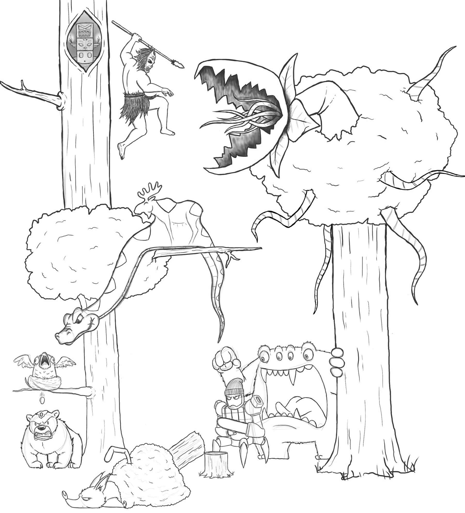 Eric Keledjian hat dieser Zeichnung jeden Tag eine Figur hinzugefügt Eric-Keledjian_19-tage-zeichnung_10