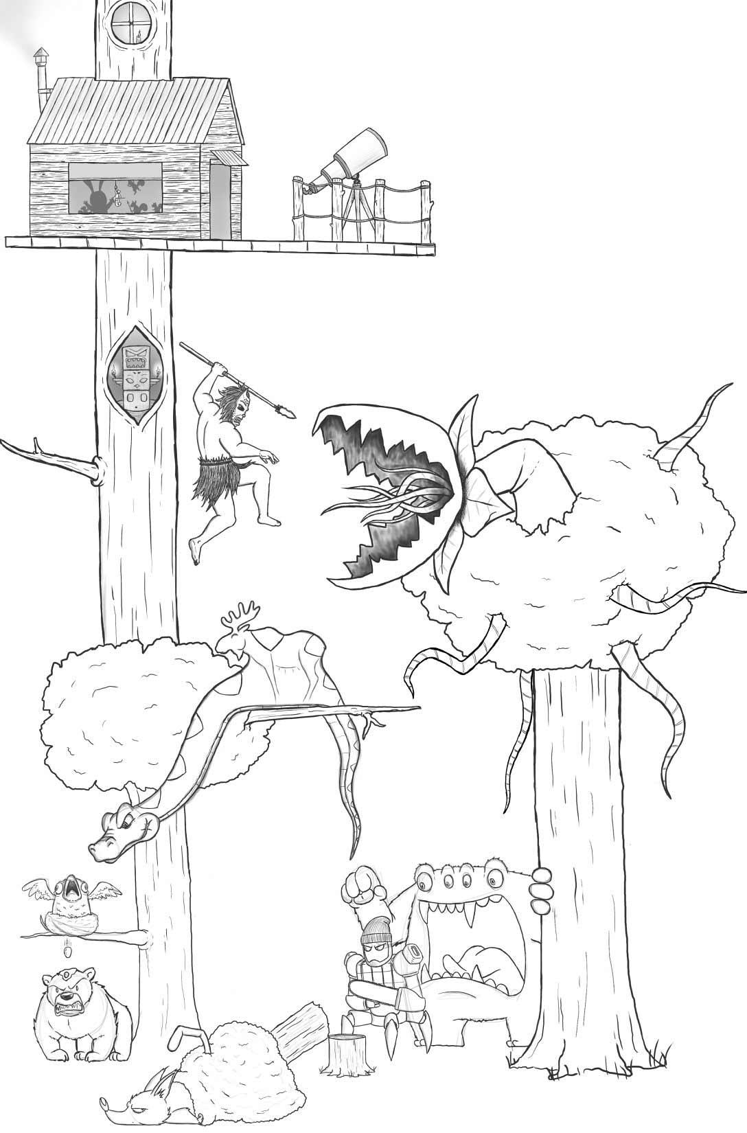 Eric Keledjian hat dieser Zeichnung jeden Tag eine Figur hinzugefügt Eric-Keledjian_19-tage-zeichnung_11