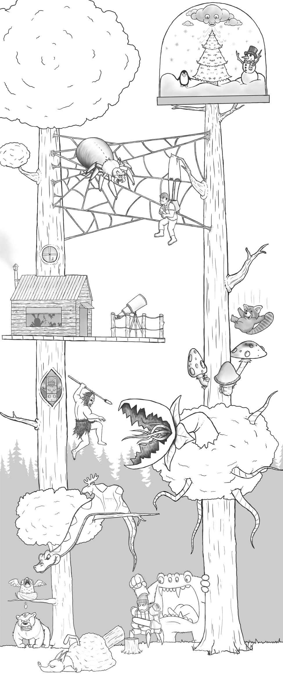 Eric Keledjian hat dieser Zeichnung jeden Tag eine Figur hinzugefügt Eric-Keledjian_19-tage-zeichnung_16
