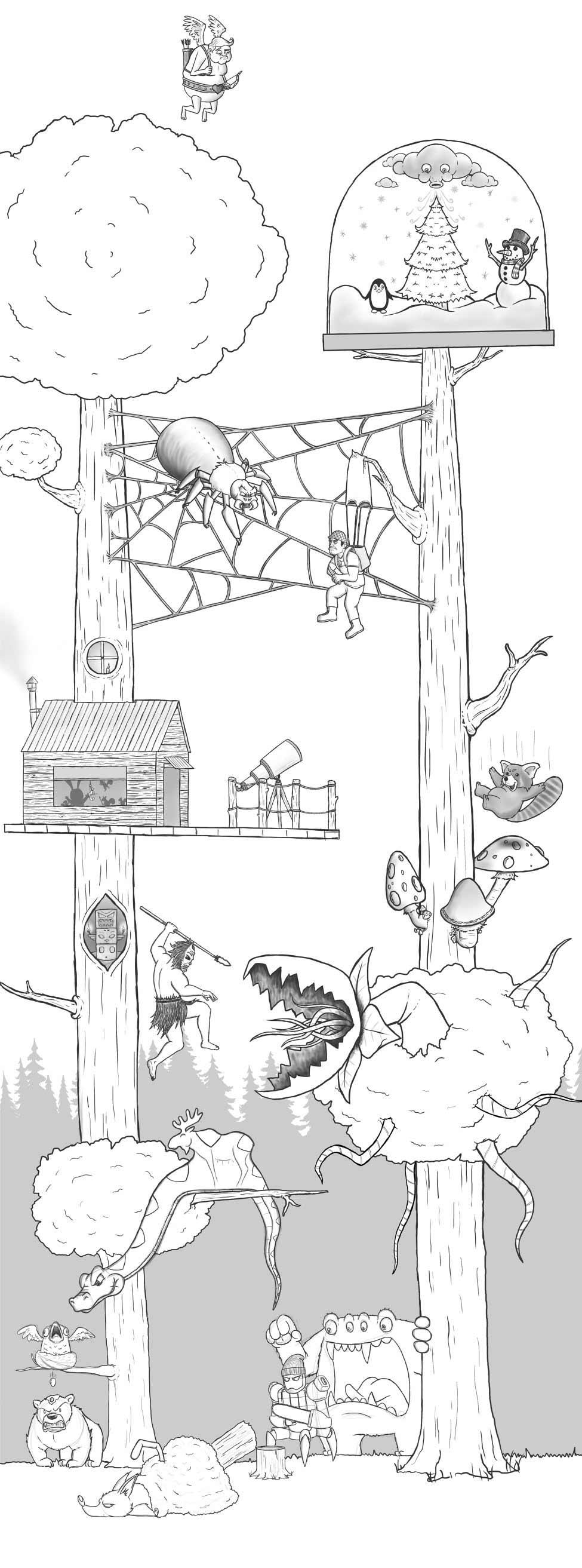 Eric Keledjian hat dieser Zeichnung jeden Tag eine Figur hinzugefügt Eric-Keledjian_19-tage-zeichnung_17