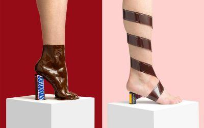 Skurrile Schuhe aus Alltagsgegenständen