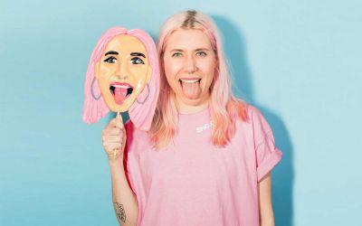 Personalisierte Gesichtslutscher