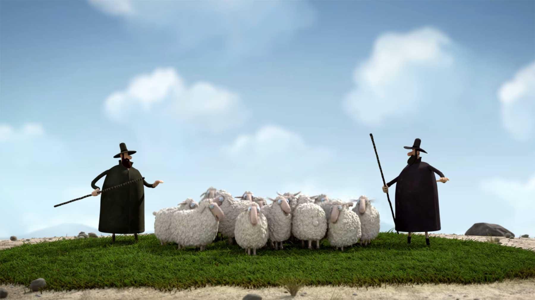 Wenn zwei Schafherden aufeinanderprallen Oh-Sheep-kurzfilm