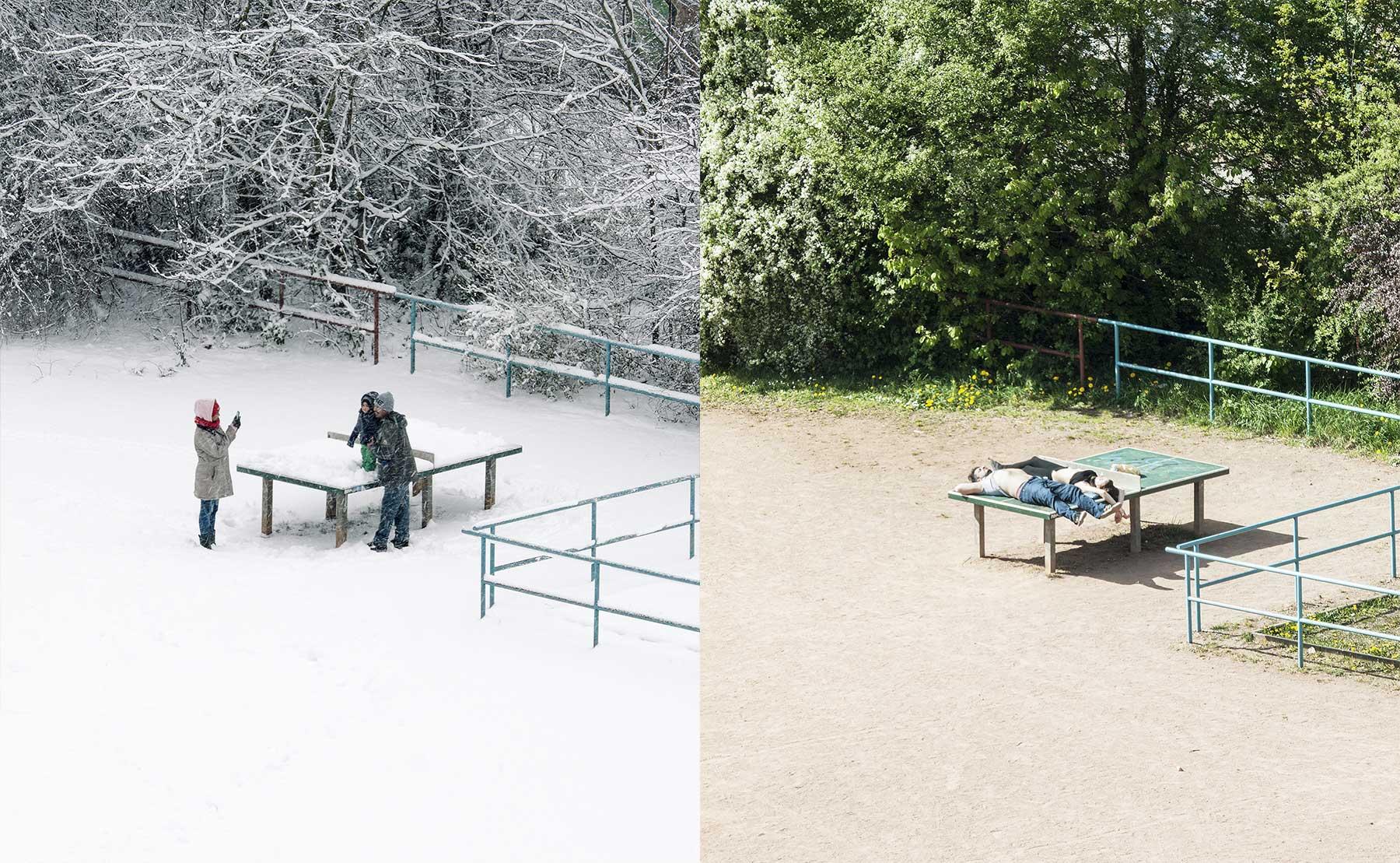 Das abwechslungsreiche Leben einer Tischtennisplatte in Leipzig