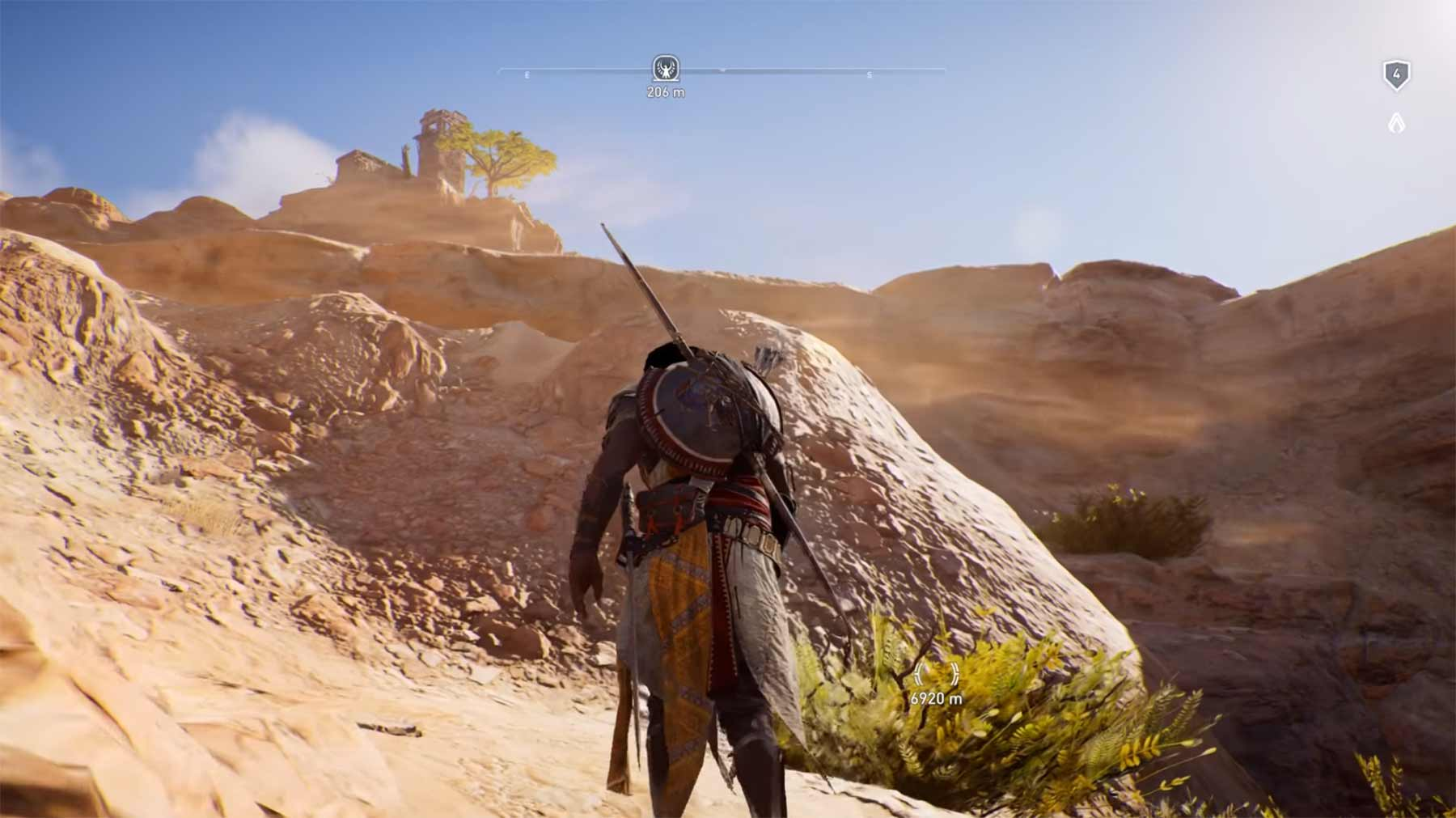 "Ein Mal durch die komplette ""Assassin's Creed: Origins""-Karte spazieren"