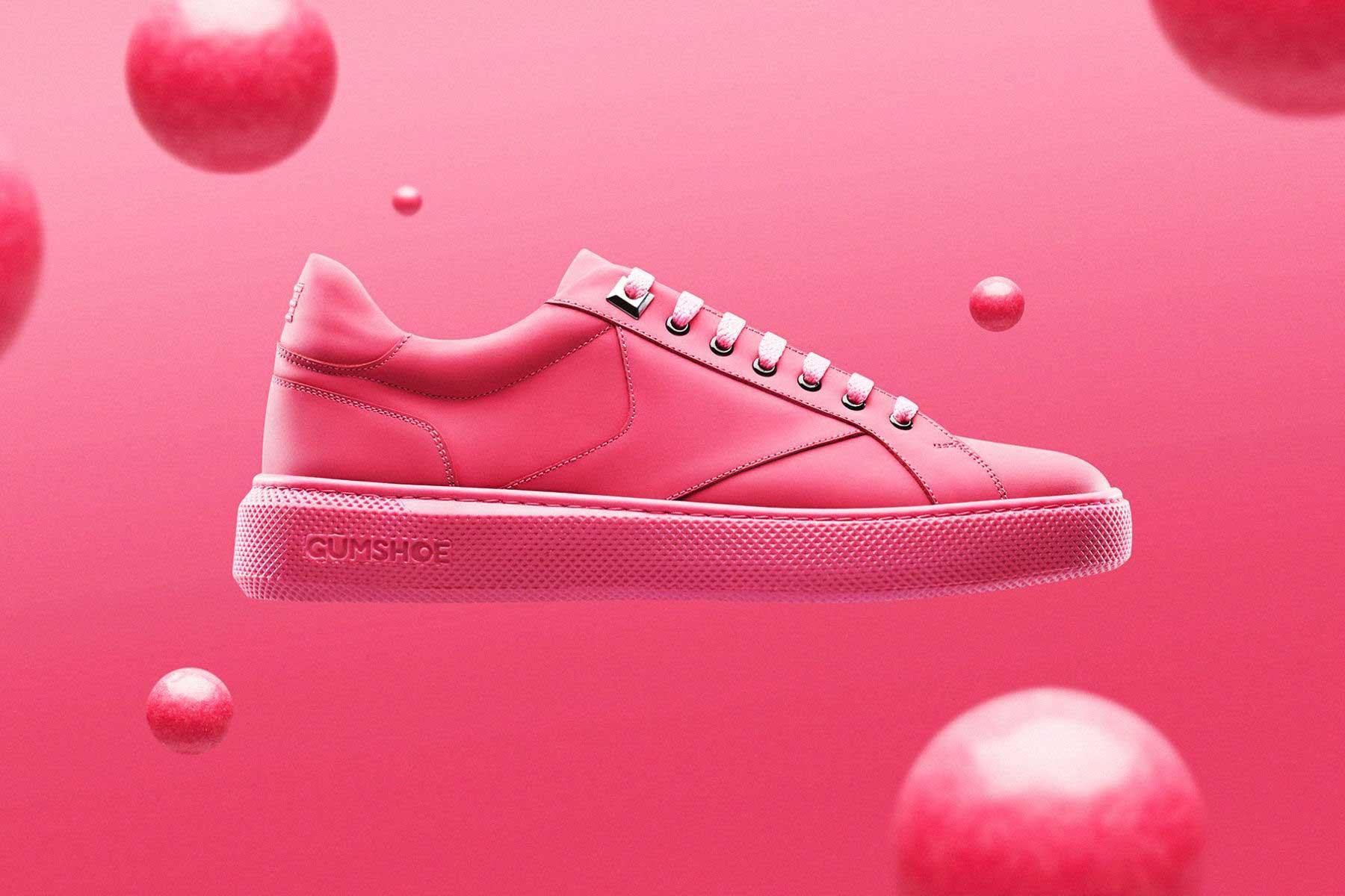 Sneaker aus Kaugummi