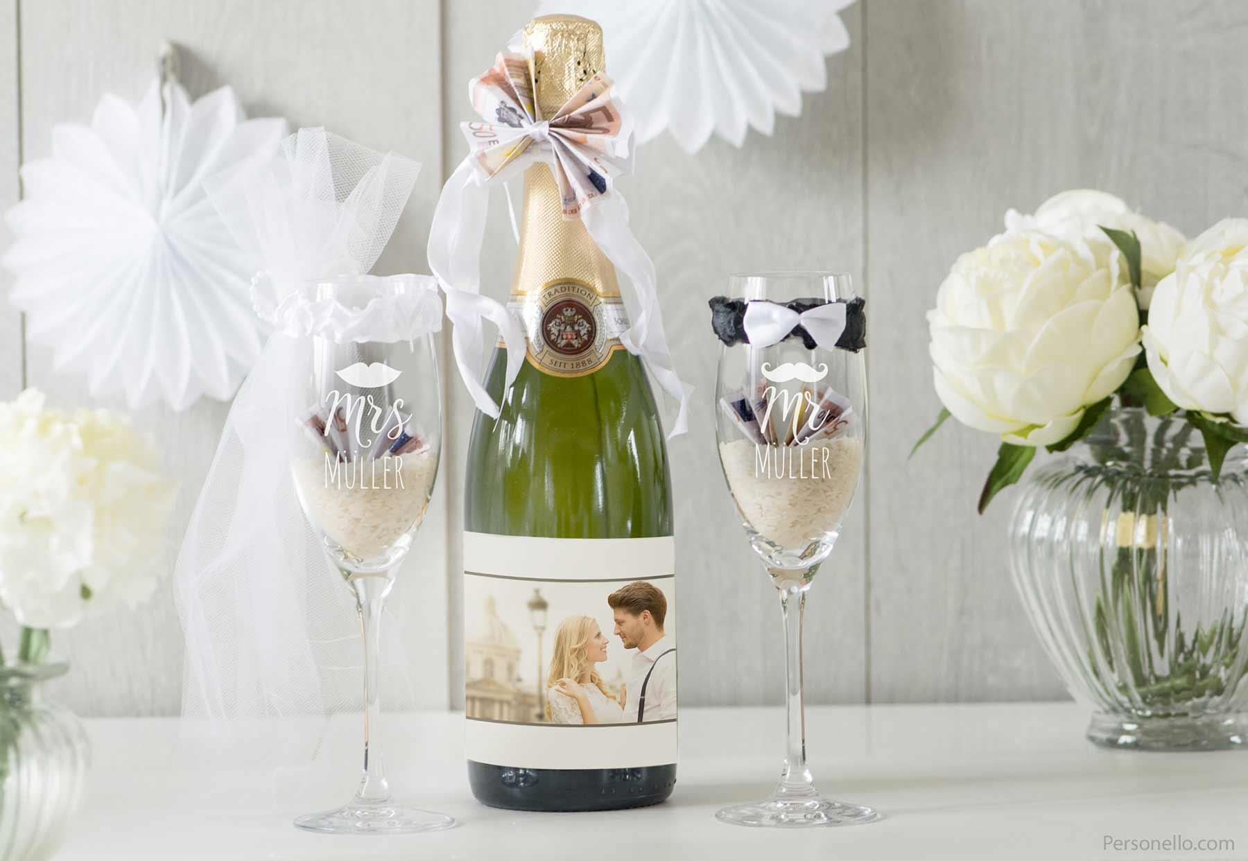 5 originelle Geschenkideen zur Hochzeit hochzeit_sekt-geldgeschenk-personello