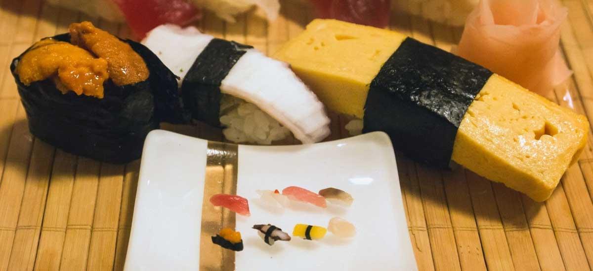 Das kleinste Sushi der Welt