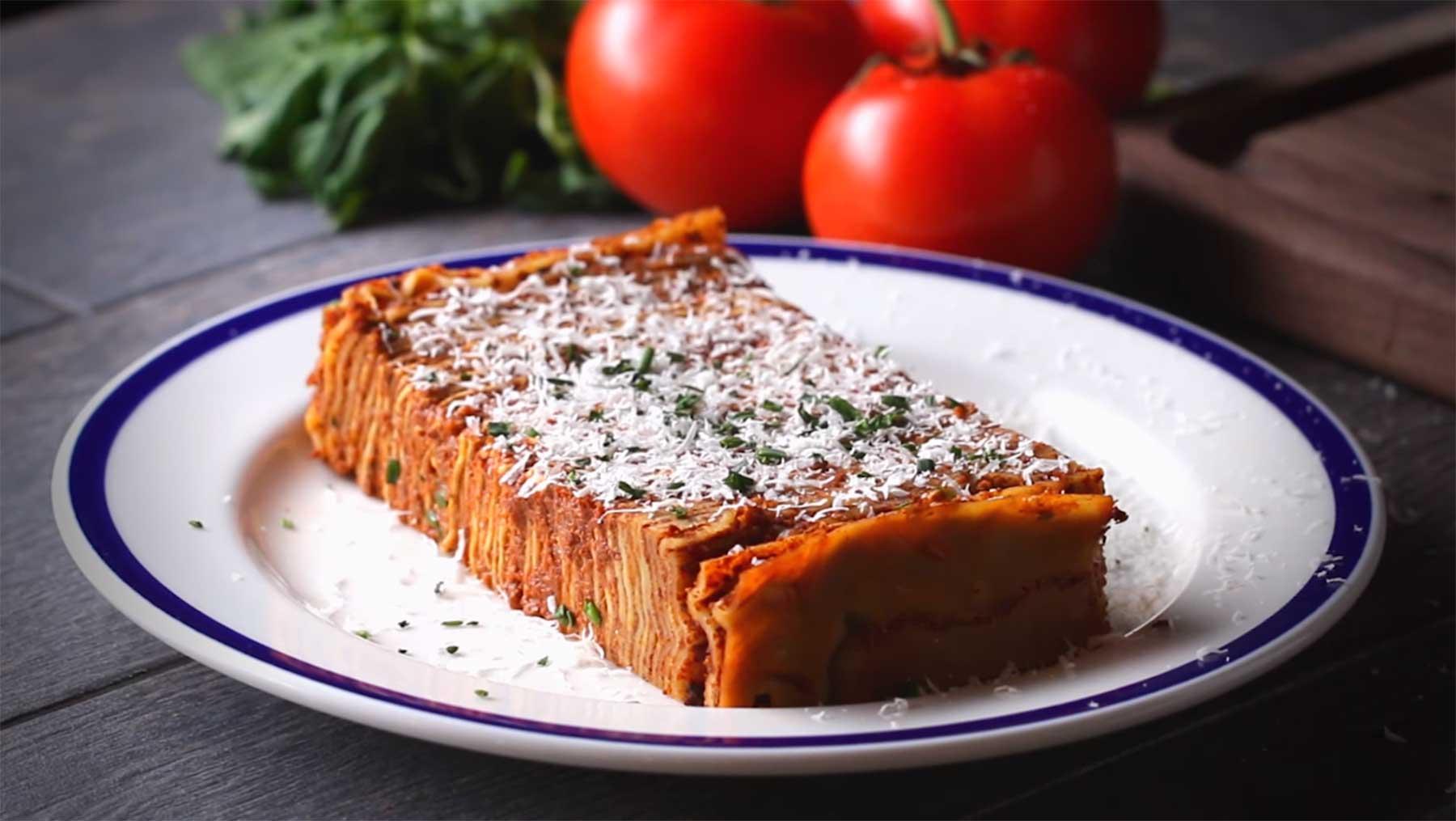 Lasagne mit 104 Lagen