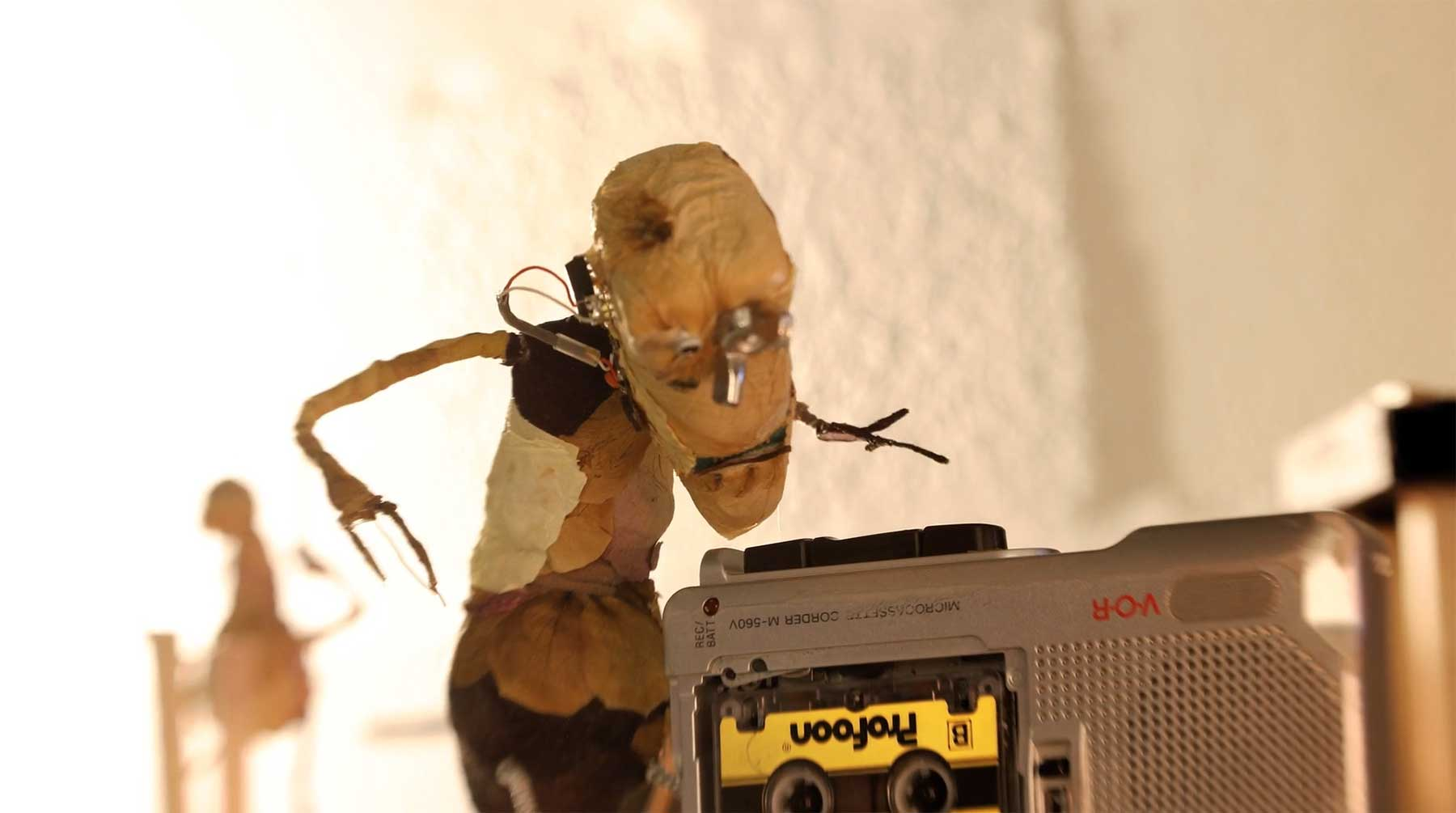 Eine Band aus Stopmotion-Puppen