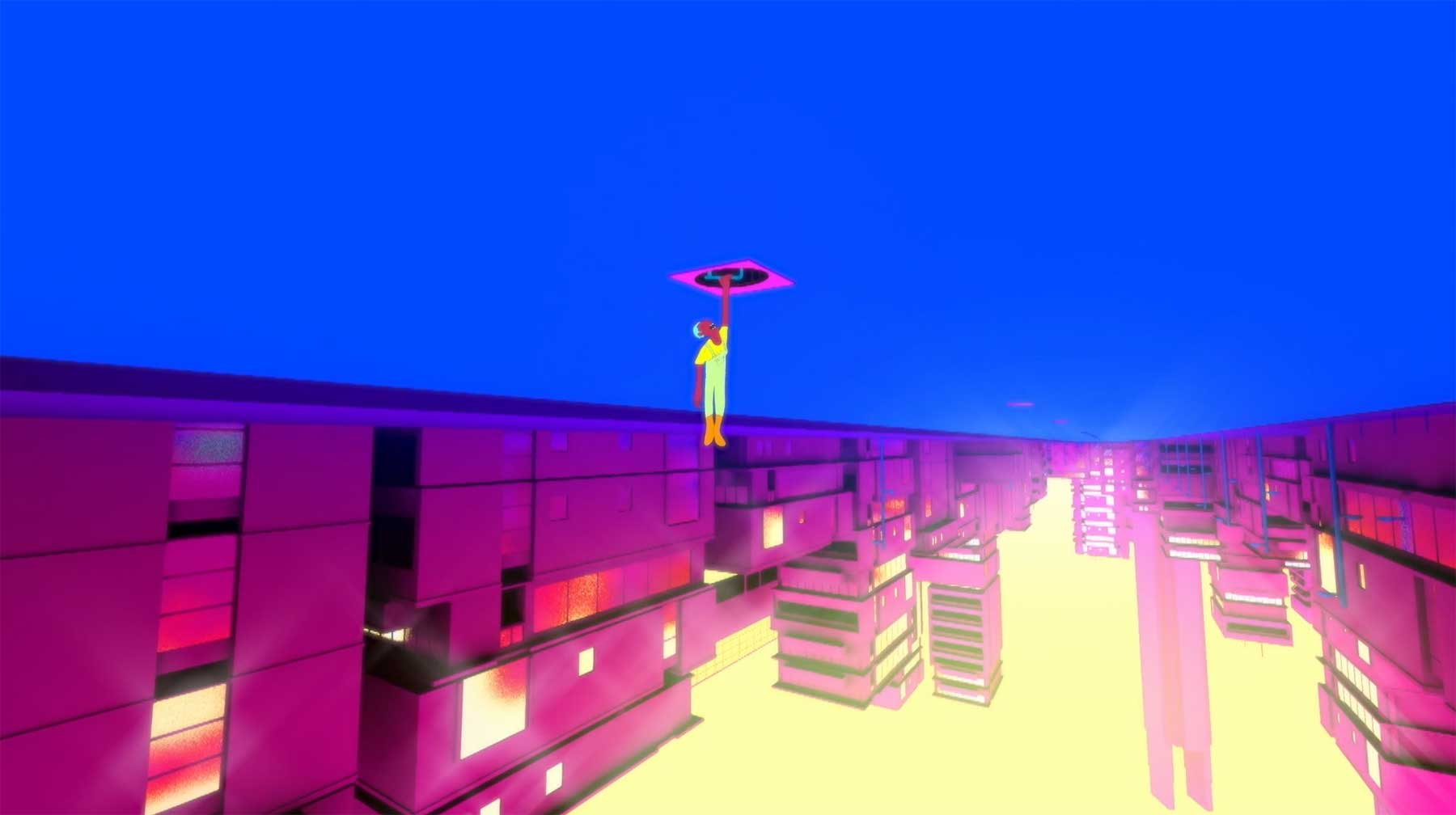 Wenn sich die Schwerkraft plötzlich umkehren würde upside-downtown-animerter-kurzfilm