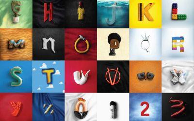 Film-Alphabet aus Knet-Buchstaben