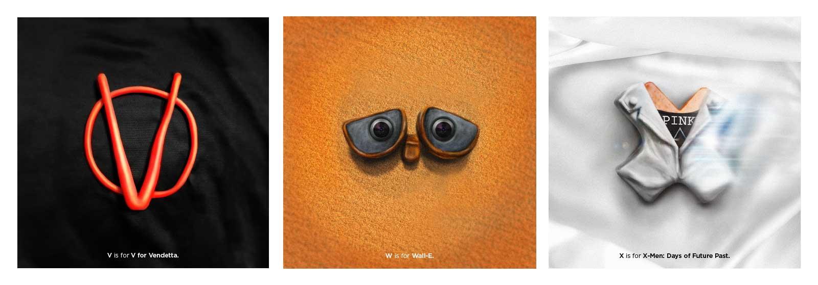 Film-Alphabet aus Knet-Buchstaben 36-days-of-type-and-movie-Marv-Castillo_09