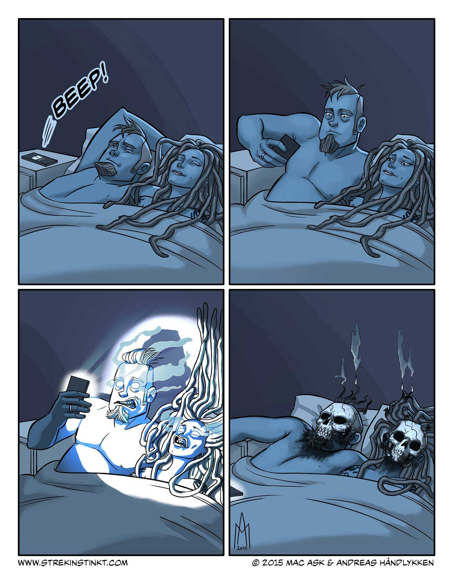 Alltags-Beziehungs-Webcomics von Mac und Andreas Håndlykken 4am-strekinstinkt_01