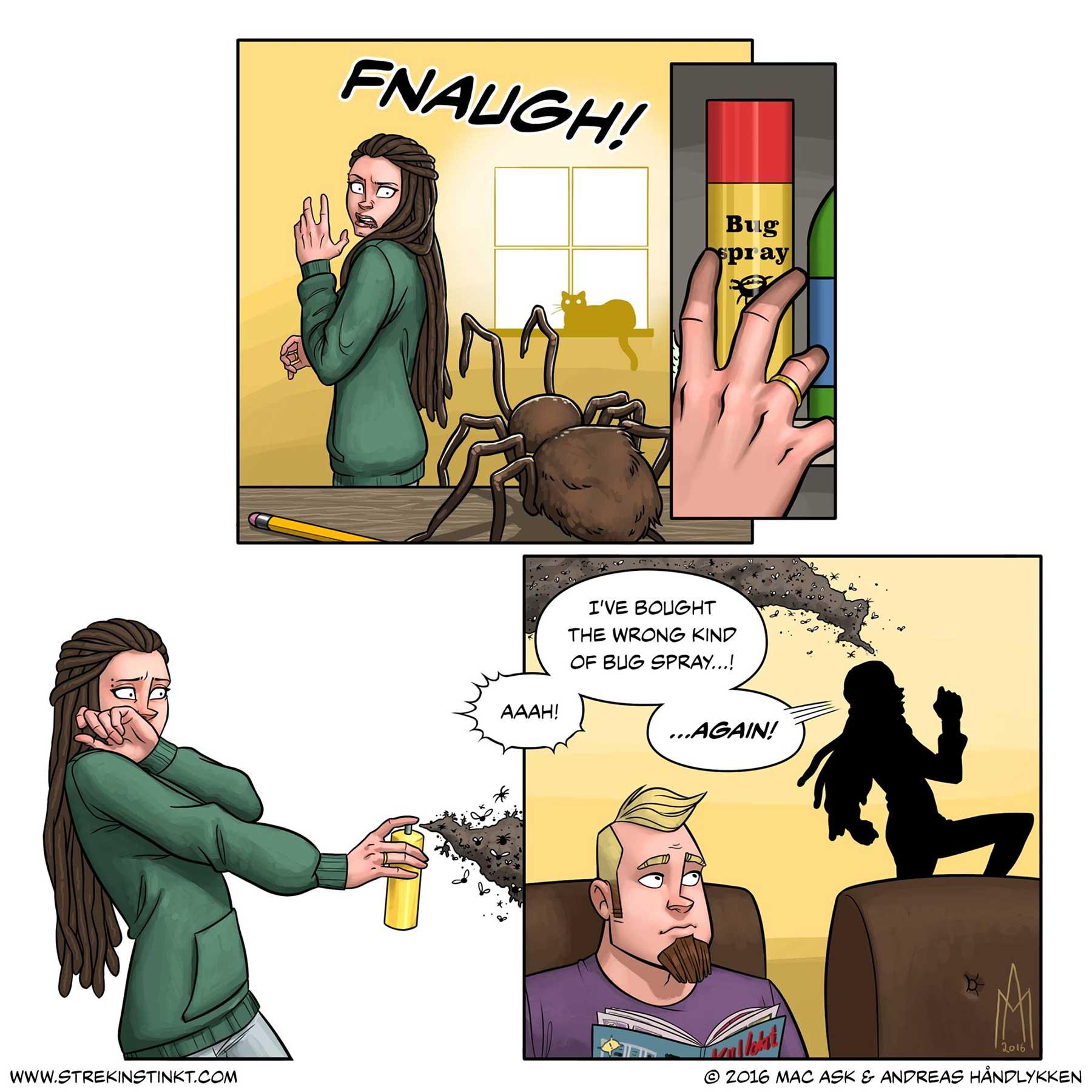 Alltags-Beziehungs-Webcomics von Mac und Andreas Håndlykken 4am-strekinstinkt_05