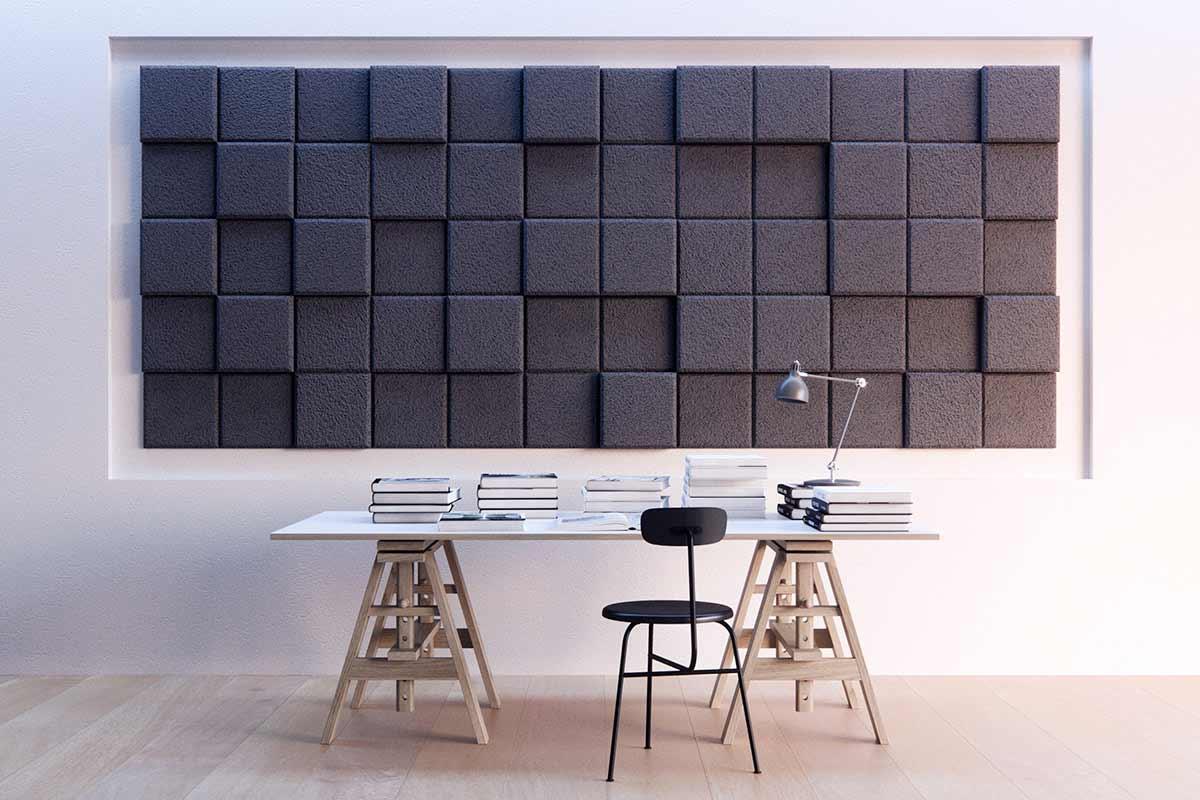 Schallschutz-Mosaik-Kacheln aus Holzwolle BAUX-TILES-HEXAGON_02