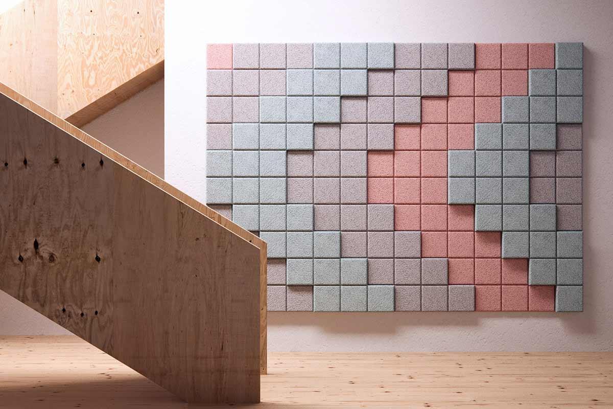 Schallschutz-Mosaik-Kacheln aus Holzwolle BAUX-TILES-HEXAGON_03