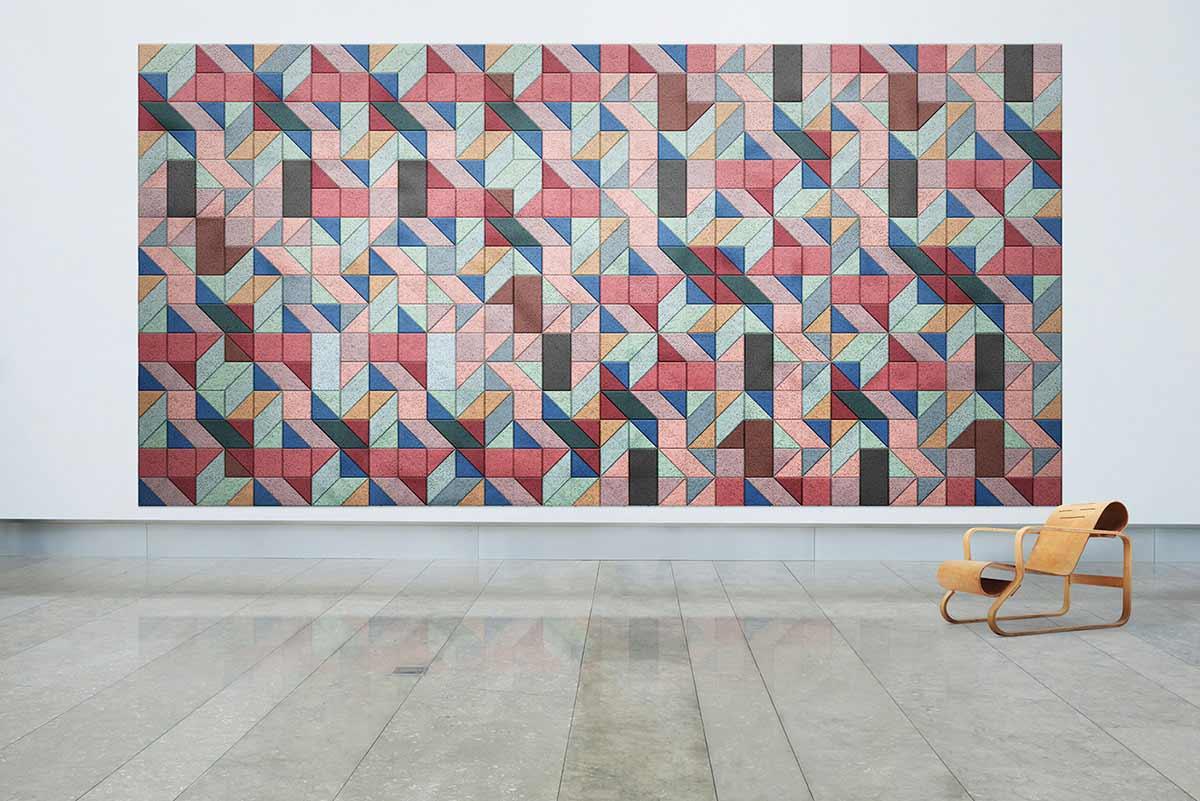 Schallschutz-Mosaik-Kacheln aus Holzwolle BAUX-TILES-HEXAGON_05