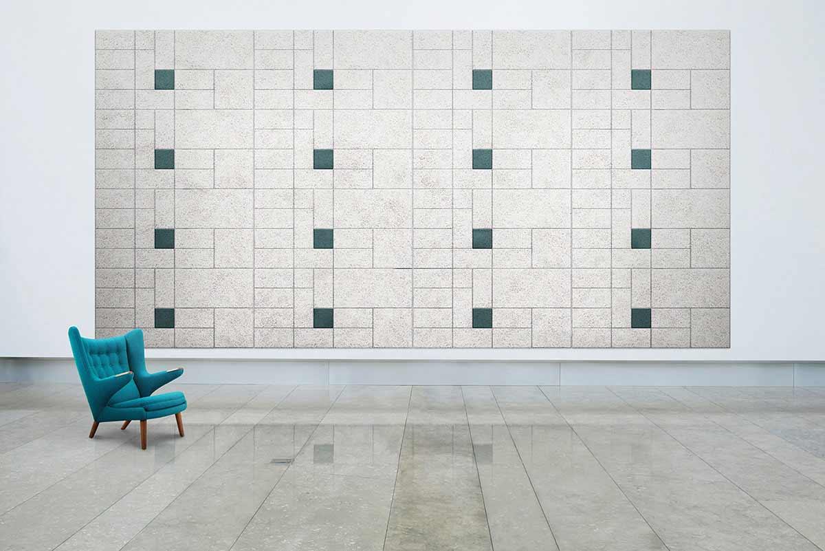 Schallschutz-Mosaik-Kacheln aus Holzwolle BAUX-TILES-HEXAGON_07