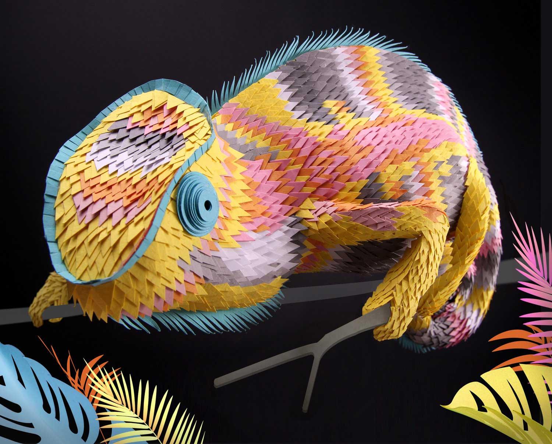 Papier-Skulpturen von Lisa Lloyd