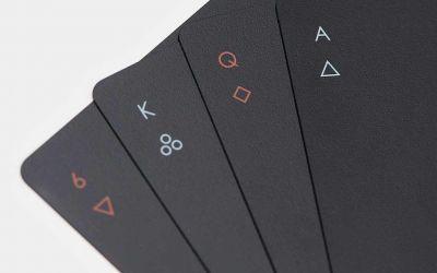 Minimalistisches Kartendeck