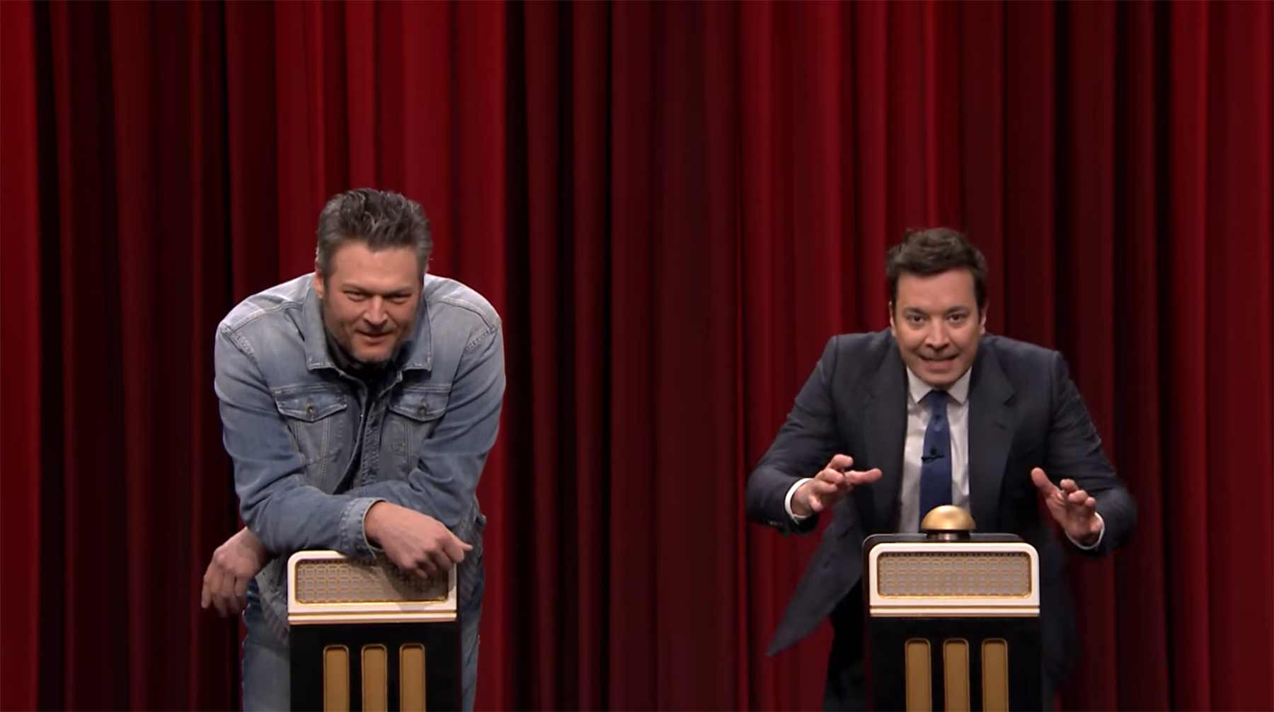 Songraten mit Jimmy Fallon und Blake Shelton Name-That-Song-Challenge-with-Blake-Shelton
